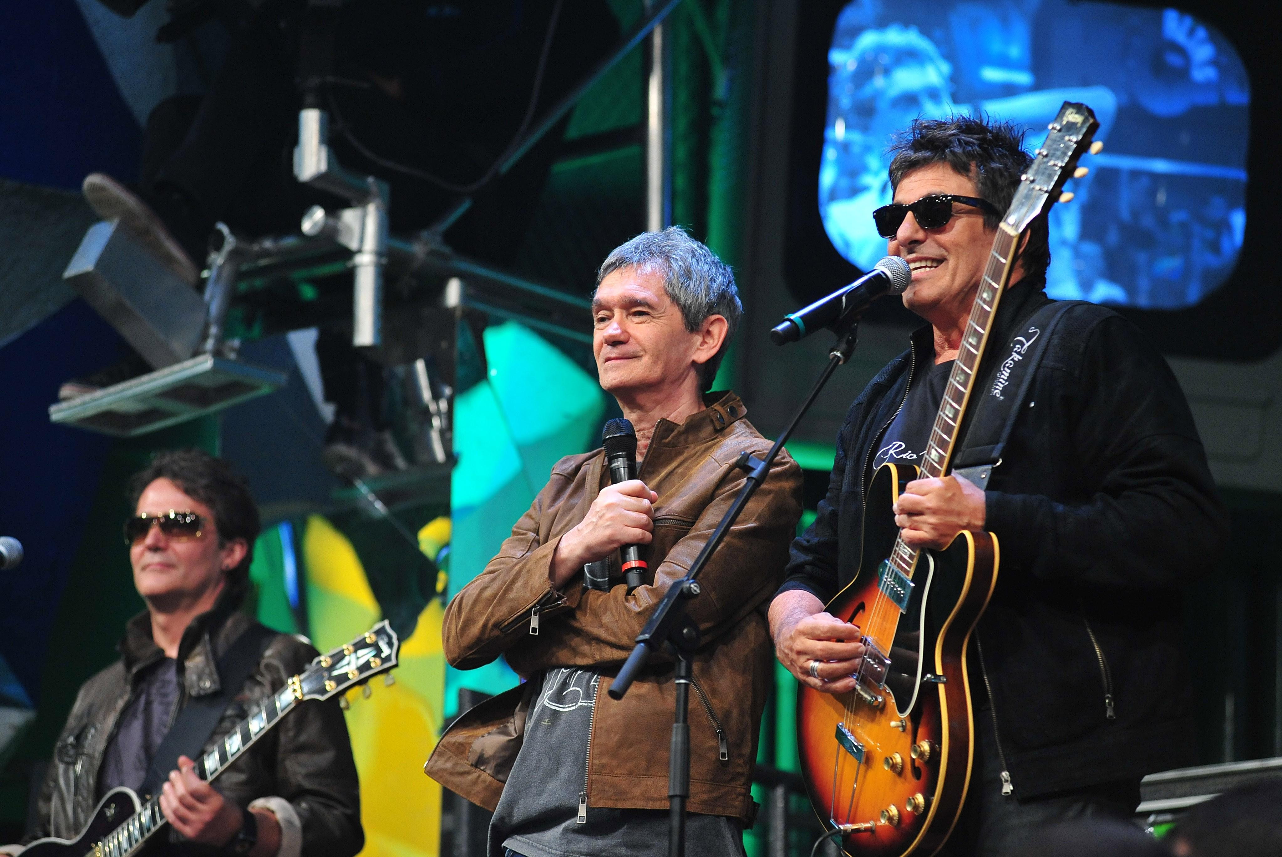 Serginho Groisman e Evandro Mesquita (Foto: Globo/Reinaldo Marques)
