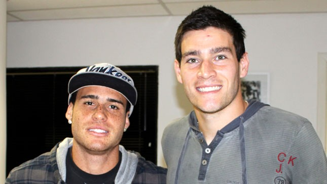 Pedro Castro e Gabriel Gasparotto - Santos (Foto: Ricardo Saibun/Divulgação Santos FC)