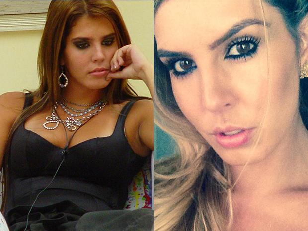 Marcela Queiroz no BBB, em 2004 e hoje em 2014 (Foto: Reprodução/ Facebook)