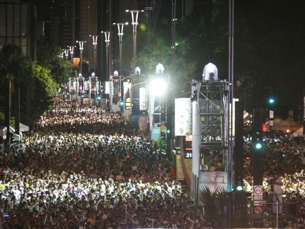 Clima era de paz e confraternização na Avenida Paulista (Foto: Vagner Campos/G1)