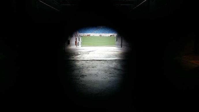 América-RN treino fechado Arena das Dunas (Foto: Jocaff Souza/GloboEsporte.com)