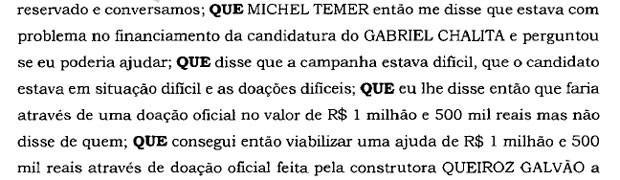 Trecho Gabriel Chalita delação Sergio Machado Lava Jato (Foto: Reprodução)