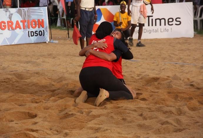Doaa Elgobashy e Nada Meawad; vôlei de praia; Egito (Foto: Divulgação/CAVB)