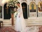 A cara da riqueza! Confira os detalhes do vestido de noiva de Drika
