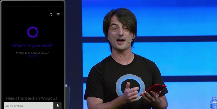 Cortana, nova assistente pessoal da Microsoft, usa os mecanismos do Bing (Foto: Divulgação)