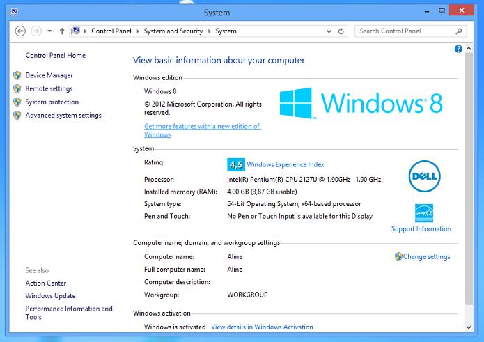Modelo ganha 4,5 pontos na pontuação do Windows Experience (Foto: Thiago Barros/TechTudo)