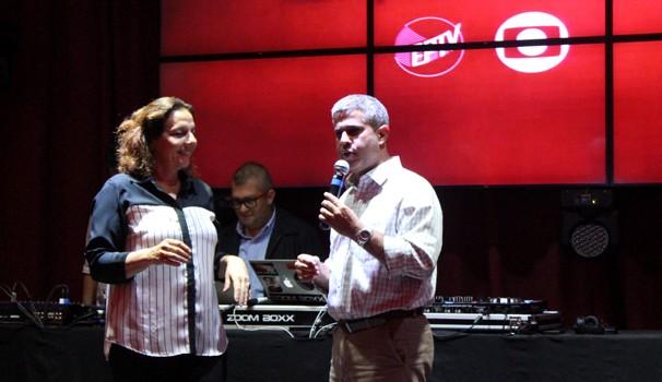 Rosi Campos e o Diretor Comercial da EPTV, Frank Alcântara (Foto: Bruno Teixeira)