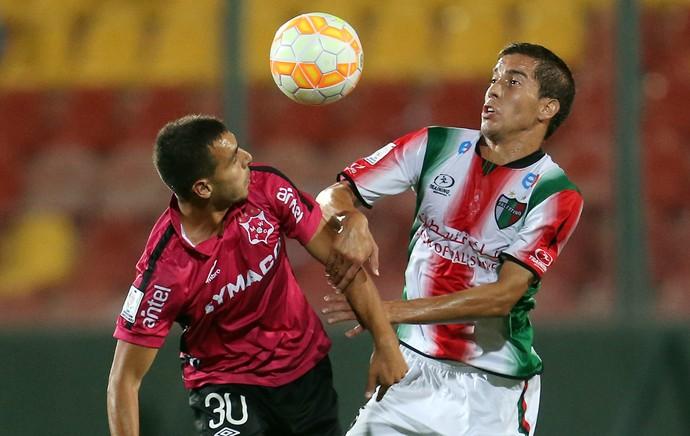Leandro Reymundezi e Farías, Palestino x Montevideo Wanderers (Foto: EFE)