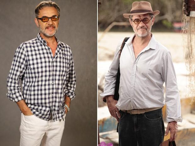Jean Pierre Noher conta que óculos e chapéu ajudaram na construção de Duque (Foto: Flor do Caribe/ TV Globo)