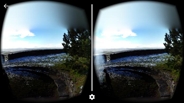 Câmera Cardboard é um app complementar ao óculos de realidade virtual VR, do Google (Foto: Reprodução/Barbara Mannara)