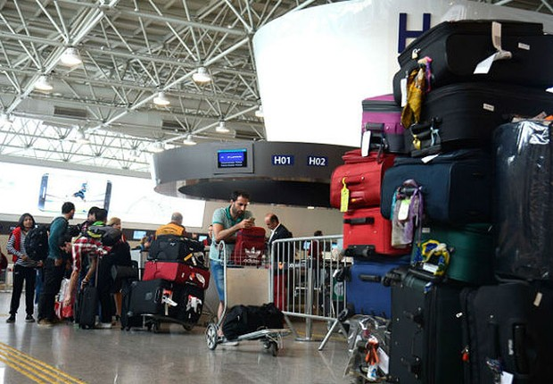 Bagagem em aeroporto ; mas ; bagagens ;  (Foto: Tânia Rêgo/Agência Brasil)
