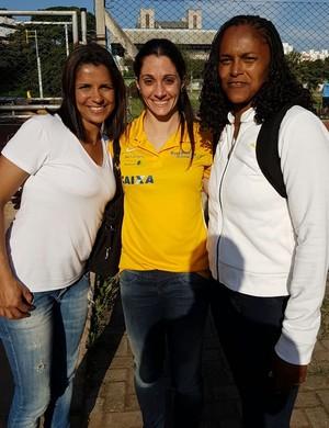Rosemar, Thaissa e Lucimar herdaram bronze olímpico oito anos depois (Foto: Arquivo Pessoal)