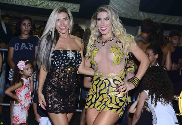 Irmãs Minerato se acabam no samba em ensaio técnico (Foto: CPress / Divulgação)