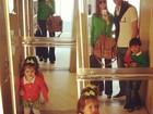 Carol Celico comemora Dia das Mães espanhol com a família