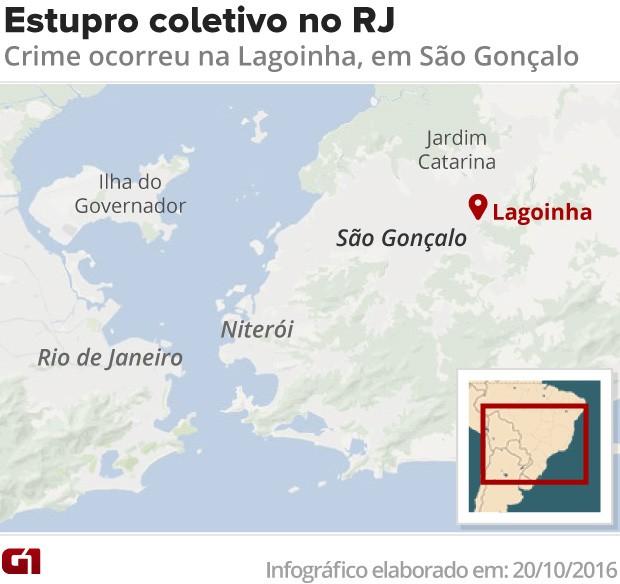 Bairro do estupro coletivo em São Gonçalo (Foto: Editoria de arte/G1)