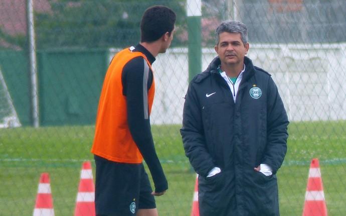 Ney Franco Coritiba Thiago Galhardo (Foto: Monique Silva)