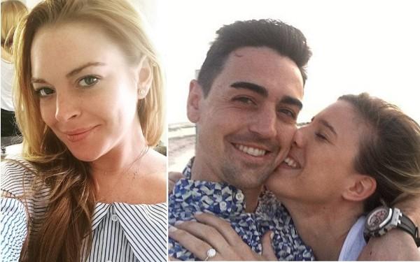 A atriz Lindsay Lohan e uma foto do irmão com a esposa (Foto: Instagram)