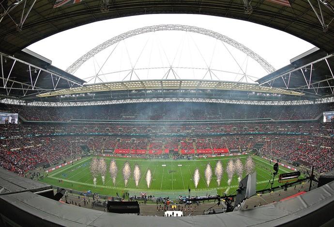 Wembley, Detroit x Atlanta, da NFL (Foto: Getty Images)