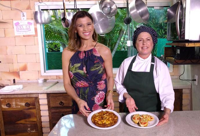 Mistura mostrou receitas de pizza de pão e frittada (Foto: RBS TV/Divulgação )