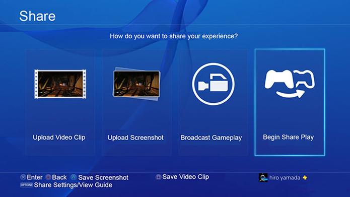 Share Play permite que amigos entrem no seu jogo pela Internet (Foto: Divulgação)