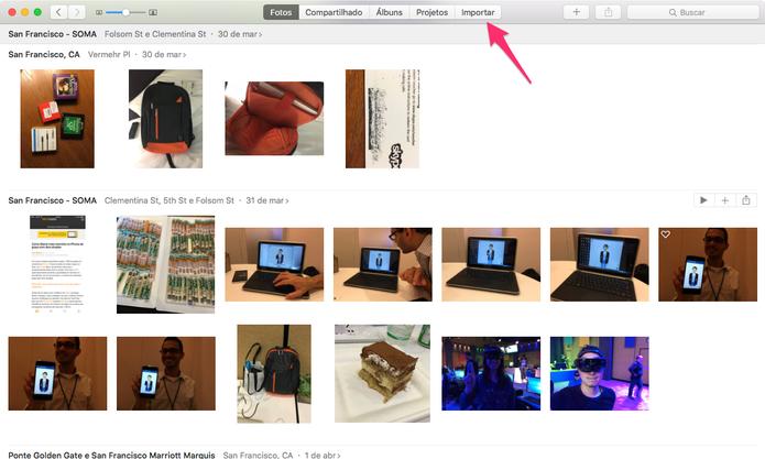 Processo de importação no Apple Fotos para Mac (Foto: Reprodução/TechTudo)