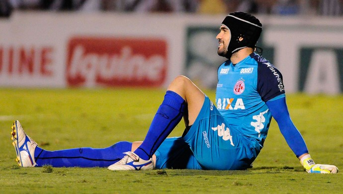 Andrey goleiro América-RN (Foto: Rodrigo Villalba)