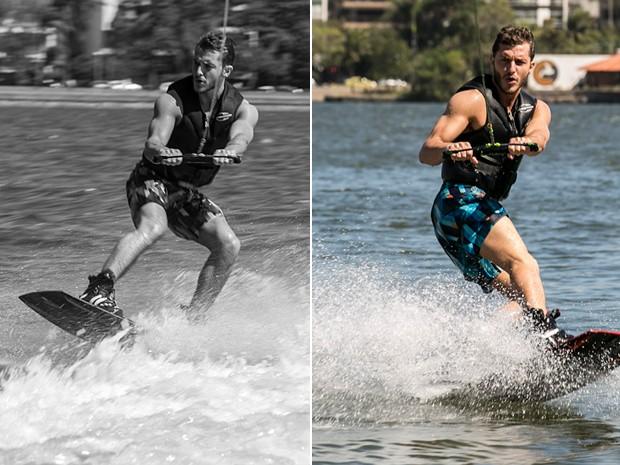 Klebber prova que nasceu para praticar esportes na água (Foto: Inácio Moraes/TV Globo)
