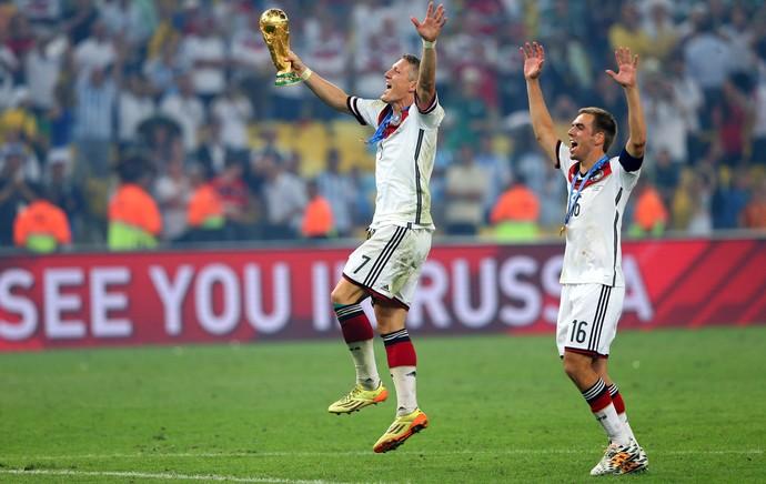 Schweinsteiger lahm alemanha campeã (Foto: Getty Images)