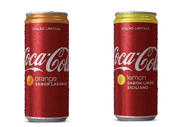 Coca-Cola sabor laranja e sabor limão siciliano: novidade! (Foto: Divulgação)
