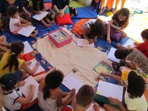 'Tenda da Literatura', em Garanhuns (Foto: Divulgação/ Secom Garanhuns)