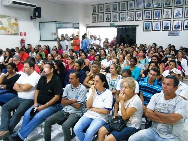 Funcionários lotarão plenário da Câmara em Itanhaém, SP (Foto: Divulgação/Câmara de Itanhaém)