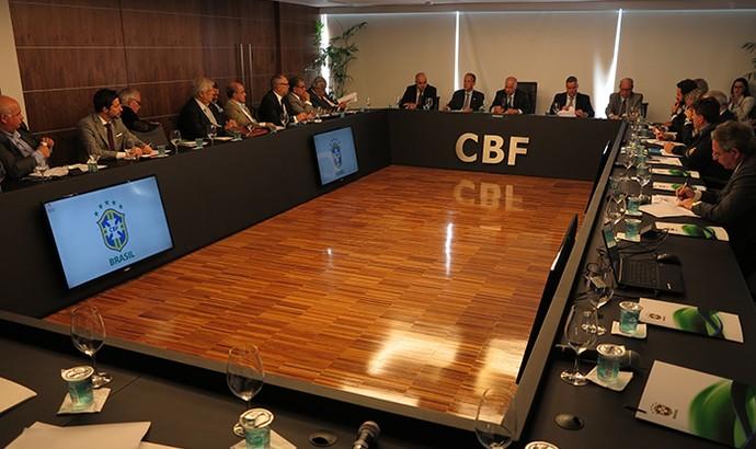 Reunião de presidentes de clubes na CBF (Foto: CBF)