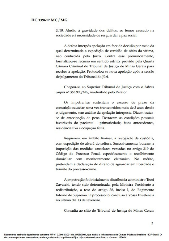 Documento Habeas Corpus goleiro Bruno 2 (Foto: Reprodução)
