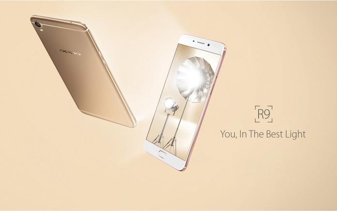 O design do Oppo R9 é bem similar ao iPhone 6s da Apple. (Foto: Divulgação/Oppo)