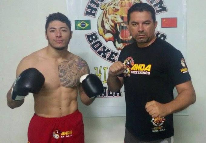 Naelton Carvalho e seu treinador Higino Souza  (Foto: Higino Souza/Arquivo Pessoal)