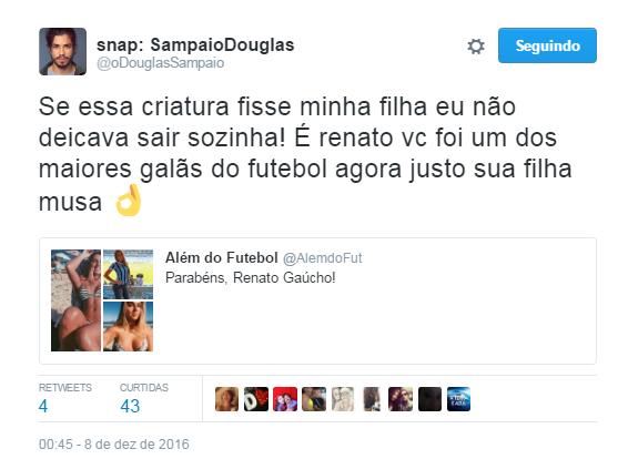 Douglas Sampaio (Foto: Reprodução / Twitter)