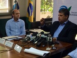 André Corrêa, não descartou racionamento de água no Rio caso não chova nos próximos seis meses. (Foto: Janaína Carvalho/ G1)