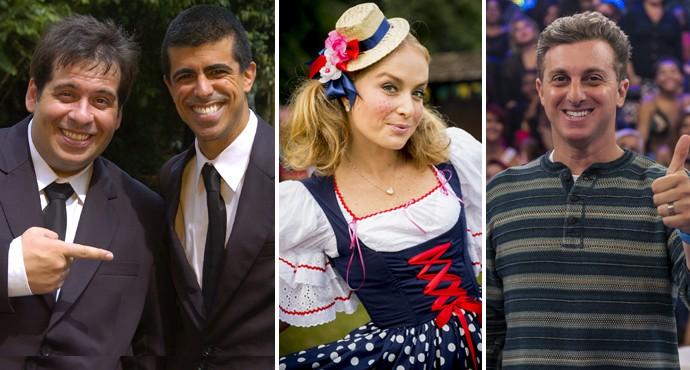 Os Caras de Pau, Estrelas e Caldeirão do Huck são atrações do sábado a tarde na TV Fronteira (Foto: reprodução TV Globo)