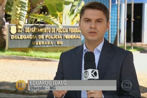 Repórter da TV Integração divulgou informações da Polícia Federal sobre o caso (Foto: Divulgação)