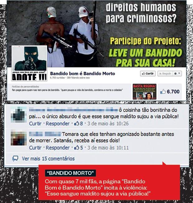 """""""BANDIDO MORTO"""" (Foto: reprodução)"""