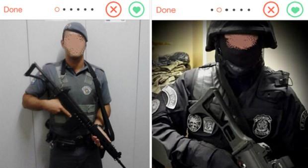 eceae7c5393d4 G1 - Policiais fardados usam armas de verdade para flertar no app ...