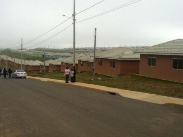 Casas têm entre 37 e 46 metros quadrados (Foto: Bibiana Dionísio/ G1 PR)