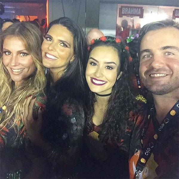 Ellen Jabour, Daniella Sarahyba, Amanda Richter e Max Fercondini (Foto: Reprodução/Instagram)