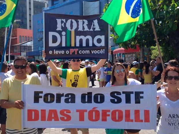Protesto em Salvador (Foto: Cassia Bandeira/G1)
