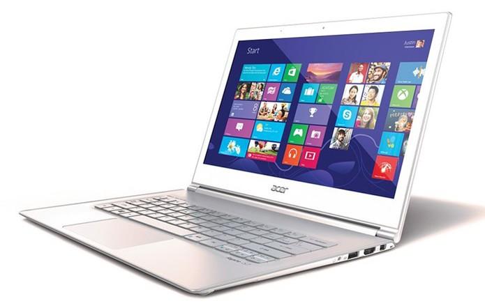 Notebook ou Ultrabook é uma boa aposta para modernizar os avós (Foto: Divulgação/Acer)