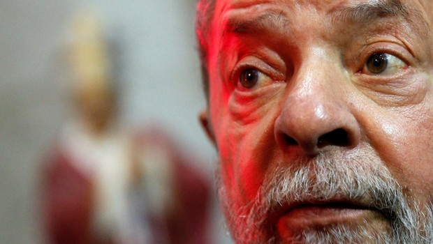 O ex-presidente Luiz Inácio Lula da Silva durante cerimônia em São Paulo (Foto: Leonardo Benassatto/Reuters)