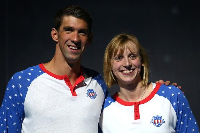 Michael Phelps e Katie Ledecky (Foto: Tom Pennington / Getty Images)