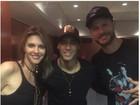 Neymar posa com Fernanda Lima e Rodrigo Hilbert: 'Privilégio'