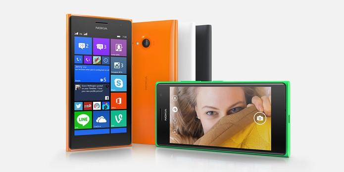 Lumia 730 possui câmera traseira de 6,7 megapixels e frontal de 5 MP (Foto: Divulgação/Microsoft)