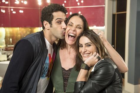 João Baldasserini, Carolina Ferraz e Cleo Pires (Foto: Renato Rocha Miranda/TV Globo)